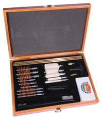 DAC Technologies Universal Gun Cleaning Kit for .22 and Larger Caliber 30 Piece in Wooden Box