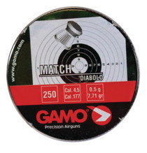 Gamo Flat Nose Pellets Match .177 Stainless