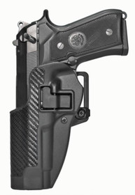 Blackhawk CQC Carbon Fiber Serpa Active Retention Holster Textured Black Left Hand For Beretta 92/96