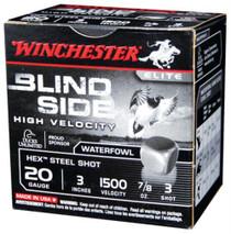 "Winchester Blindside High Velocity 20 Ga, 3"", 7/8oz, 3 Shot, 25rd/Box"
