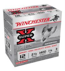 "Winchester Super-X Xpert Steel Waterfowl Load 12 Ga, 2.75"", 1400 FPS, 1.125oz, 3 Steel Shot, 25rd/Box"