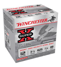 Winchester Super-X Xpert Steel Waterfowl 12 Ga, 3.5', 1625 FPS, 1.25OZ, BB Steel Shot, 25rd/Box