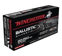 Winchester Supreme 22-250 Rem Ballistic Silvertip 55gr, 20Box/10Case