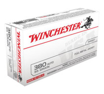 Winchester USA Brand .380 ACP 95 Grain Jacketed Hollow Point 50 Per Box