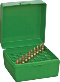 MTM RS-100 Rifle Ammo Box .17 to .222 Magnum Green