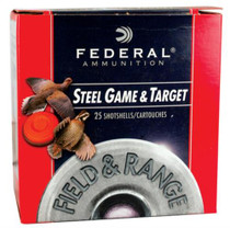 "Federal Field and Range Steel 12 Ga, 2.75"", 1375 FPS, 1oz, 7 Shot 25 Per Box"
