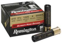 "Remington HD Ultimate Home Defense .410 Ga, 2.5"", 4 Pellets, 000 Buckshot, 15rd/Box"