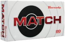 Hornady Match .338 Lapua, 250gr, Boattail Hollow Point, 20rd/box