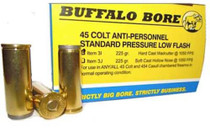 Buffalo Bore .45 Colt Anti Personnel 225gr, Hard Cast Wad Cutter, 20rd/Box
