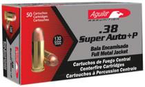 Aguila .38 Super + P 130gr, FMJ, 50rd/Box
