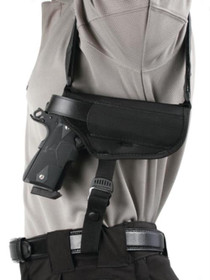 "Blackhawk Horizontal Shoulder Holster Large Black Right Hand For 3-4"" Barrel Medium Autos"