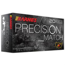 Barnes Precision Match 5.56mm Nato 69gr, Open Tip Match Boat Tail 20rd/Box