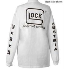 Glock Long Sleeve T-Shirt, White, Med