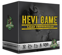 "HEVI-Shot Hevi Game 12 Ga, 2.75"", 1-1/8oz, 6 Shot, 25rd/Box"