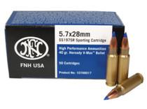 FN 5.7x28mm SS197 V-MAX Ammo, 40gr, 50rd/Box
