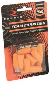Radians Foam Earplugs, Red