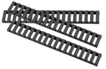 ERGO Low Profile Rail Cover, Long - Eighteen Slot Black 3 pack