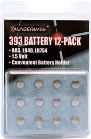 LaserLyte 393 Batteries, 12-PACK