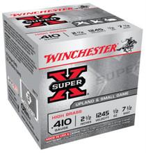 "Winchester 5 Super-X High Brass 410 Ga, 2.5"", 1/2oz, 7.5 Shot, 25rd Box"