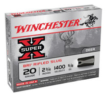 """Winchester Super-X BRI Sabot 20 Ga, 2.75"""", 5/8oz, Slug, 5rd/Box"""