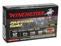 "Winchester Supreme Partition Gold 12 Ga, 2.75"", 385gr, Sabot Slug Shot, 5rd/Box"