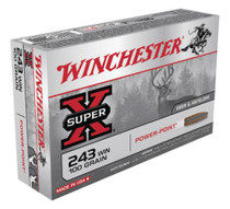 Winchester Super X .243 Win Power-Point 100gr, 20rd/Box
