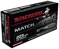 Winchester Match .223 Remington 69 Grain Hollow Point Boattail 20rd Box