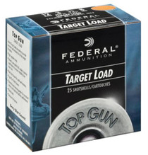 "Federal Top Gun Target 12 Ga, 2.75"", 1oz, 8 Shot, 1250 FPS, 25rd/Box"