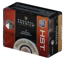 Federal HST Personal Defense 9mm 124gr, Jacketed Hollow Point 20rd Box