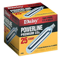 Daisy 7025 Powerline CO2 Cylinders, 12 Grams, 25 Per Box
