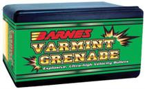 Barnes 22430 Rifle 22 Hornet 22 Caliber .224 30gr Varmint Grenade 100 Box