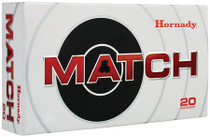 Hornady Match .308 Winchester, 168 Grain Boattail Hollow Point, 20rd/box