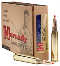 Hornady A-Max Match .338 Lapua, 285 Gr, Polymer Tip Boat Tail, 20rd/Box