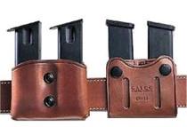 "Galco DMC Double Mag 45 ACP/10mm Single Column, Belt 1-1.75"", Tan Leather"