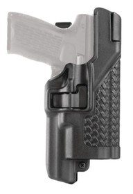 Blackhawk Level 3 Serpa Light Bearing Duty Holster Basket Weave Black Right Hand For Beretta 92/96/M9A1 With Rails - Not Elite or Brigadier