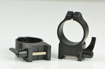 Warne 30mm, QD, High Matte Rings, Steel, Fixed for Maxima/Weaver Style or Picatinny Bases