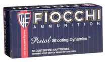 Fiocchi Shooting Dynamics .357 Magnum 142 Grain Full Metal Jacket Truncated 50rd/Box