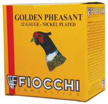 "Fiocchi Golden Pheasant Nickel 12 Ga, 2.75"", 1.3oz, 4 Shot, 1250 FPS, 25rd/Box"