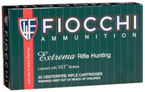 Fiocchi Extrema Rifle Hunting .308 Winchester 165gr, Gameking Hollow Point, Boat-tail, 20rd/Box