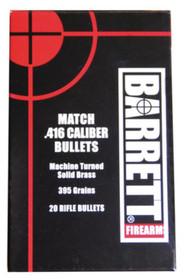 Barrett Firearms Barrett .416 Bullets 395 Grain Boat Tail 20 Per Box