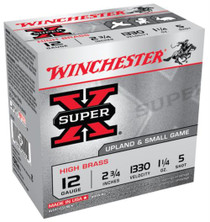 "Winchester Super-X High Brass 12 Ga, 2.75"", 1-1/4oz, 5 Shot, 25rd/Box"