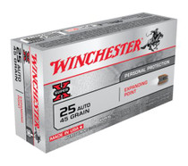 Winchester Super X 25 ACP Expanding Point 45gr, 50rd/Box
