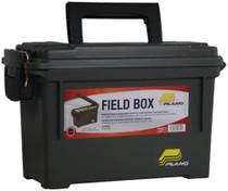 """Plano Field Box Brass 11.625x5.125x7.125"""" Olive Drab Green"""