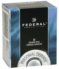 Federal Personal Defense 45 ACP 230gr, Jacketed Hollow Point 20rd Box