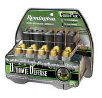 Remington Ultimate Defense Combination Pack .45 Colt 230 Grain Brass Jacketed Hollow Point and .410 Shotshell 2.5 Inch 1300 fps 4 Pellet 000 Buckshot Package of 10 Each