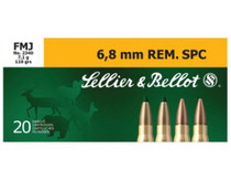 Sellier and Bellot 6.8mm Rem.Spc 110 FMJ 20Rd/Box