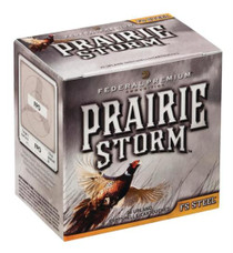 "Federal Premium Prairie Storm FS Steel 12 Ga, 3"", 1600 FPS, 1.125oz, 4 Shot, 25/Box (May be availble by the case, 10 boxes per case)"
