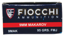 Fiocchi Shooting Dynamics 9x18 Makarov 95 Grain Full Metal Jacket 50rd/Box