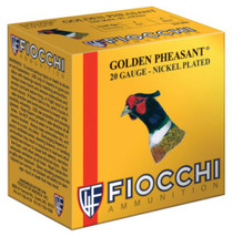 "Fiocchi Golden Pheasant Nickel 20 Ga, 2.75"", 1oz, 6 Shot, 1245 FPS, 25rd/Box"