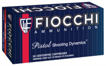 Fiocchi Shooting Dynamics 9mm 124 Grain Jacketed Hollow Point 50rd/Box
